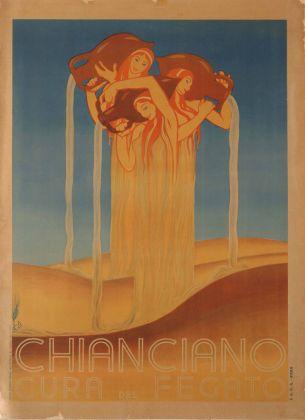 Duilio Cambellotti, Chianciano, manifesto. Galleria del Laocoonte