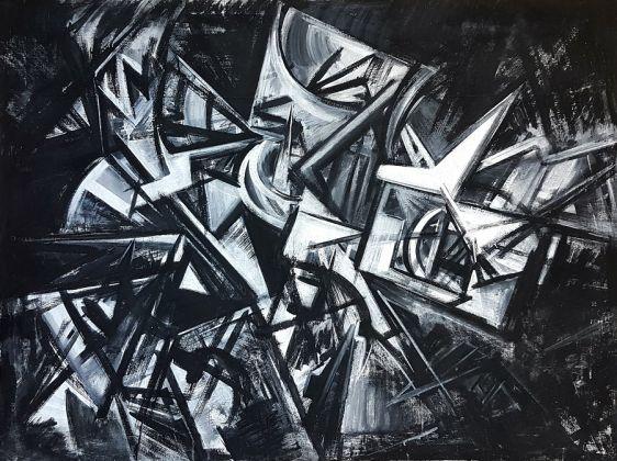 Emilio Vedova, Visione contemporanea, olio su tela, 130 x 170 cm (1954)