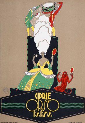 Erberto Carboni, Ciprie Opso, cartello pubblicitario, 1923