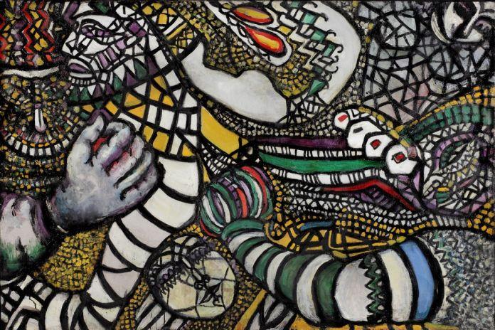 Fahrelnissa Zeid, Lotta contro l'astrazione, 1947. Olio su tela, 101 x 151 cm. Collezione Istanbul Modern, Eczacibaşi Group. © Raad Zeid Al Hussein. Courtesy Tate, Londra
