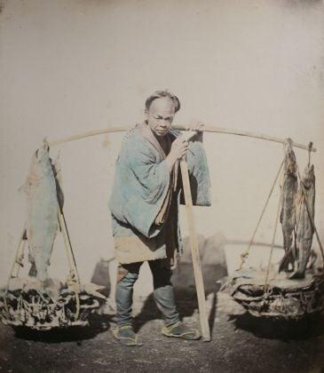 Felice Beato Fishmonger, 1868