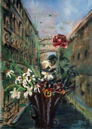 Filippo De Pisis, Mazzo di fiori a Venezia, olio su tela, 92 x 64 cm (1930)