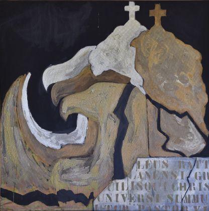 Franco Angeli, Aquila, 1964, olio su tela, 120 x 120 cm