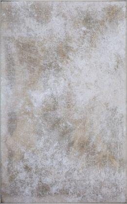 Franco Angeli, Povera Francia, 1961, tecnica mista su tela garza e collant, 170 x 105 cm