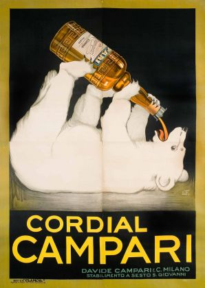 Franz Laskoff, Cordial Campari, 1921. Galleria L'Image, Alassio