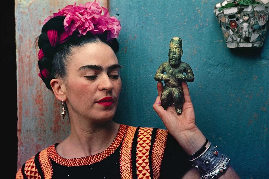 NYBG Frida Kahlo figurine photo by Nickolas Muray