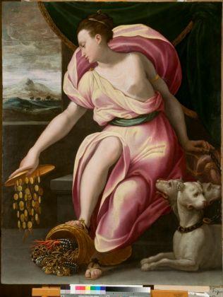 Girolamo Macchietti, La Liberalità e la Ricchezza (Proserpina), 1565 ca. Venezia, Galleria Giorgio Franchetti alla Ca' d'Oro