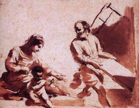 Guercino, Sacra Famiglia. Ascoli Piceno, Pinacoteca Civica