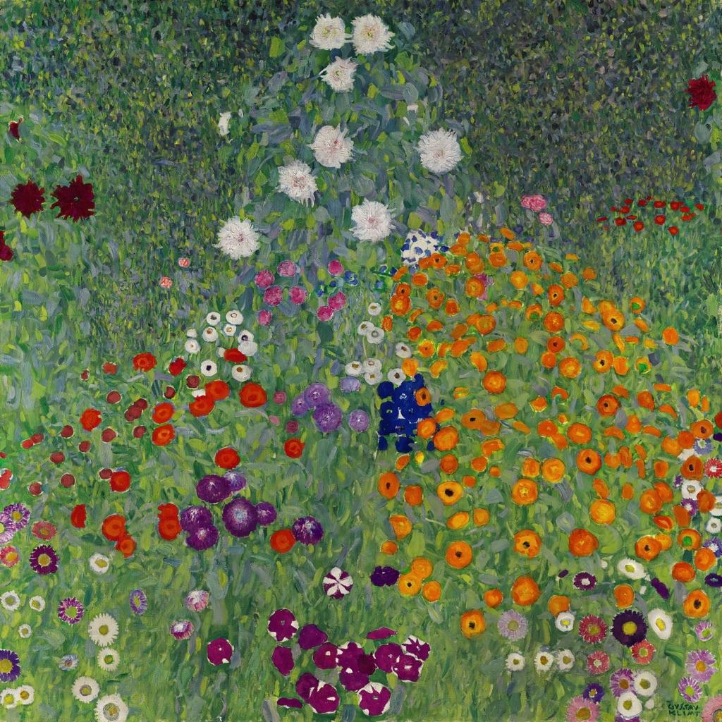 Gustav Klimt, Bauerngarten (Blumengarten), 1907. Courtesy Sotheby's