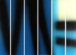Hans Hartung, Hexaptyque, 1983. Collezione Fondazione Hartung Bergman