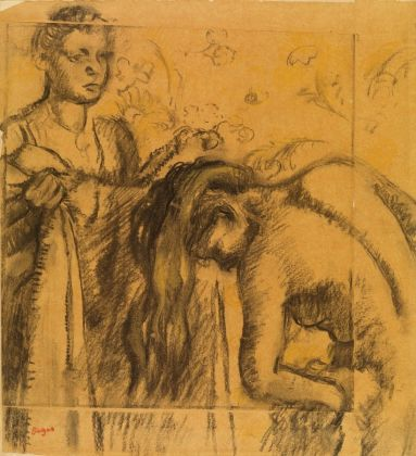 Hilaire-Germain-Edgar-Degas-After-the-Bath-about-1890-5-Charcoal-and-pastel-on-paper-The-Burrell-Collection