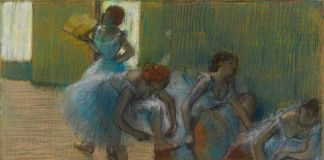 Hilaire Germain Edgar Degas, Dancers on a Bench, about 1898, Pastel-on-tracing-paper-Glasgow-Museums Art Gallery Museums Kelvingrove©CSG-CIC Glasgow Museums Collection