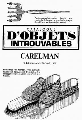 Jacques Carelman, Catalogue d'objets introuvables, 1969