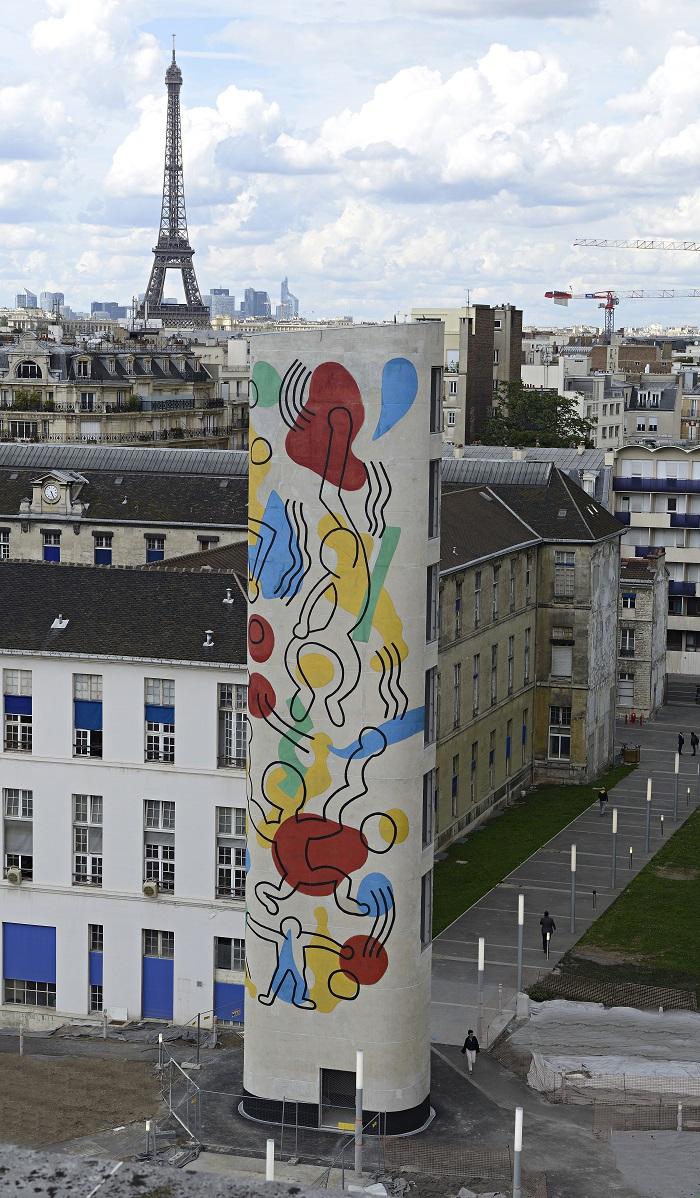 Keith Haring, Tower Necker. Photo T. Jacob ® Keith Haring Foundation, Courtesy Noirmontartproduction, Paris