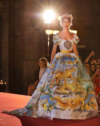 L'abito di Dolce e Gabbana sipirato al Gattopardo, Palermo, 2017