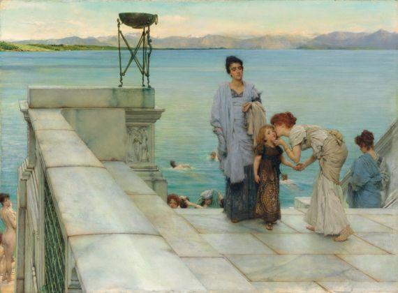 Lawrence Alma-Tadema, Un bacio, 1891. Collezione privata. Courtesy Martin Beisly e Leighton House Museum, Londra