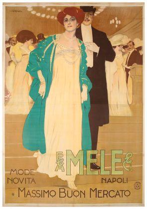 Leopoldo Metlicovitz, Mele Mode novità, 1909. Galleria L'Image, Alassio