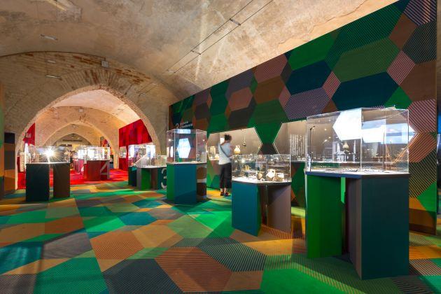Longobardi, exhibition view at Scuderie del Castello Visconteo, Pavia 2017, photo Osvaldo Di Pietrantonio