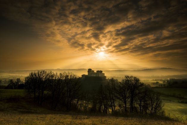 Luci al tramonto, Castello di Torrechiara, Langhirano, Ph. Lara Zanarini