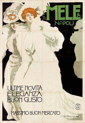 Marcello Dudovich, Mele Ultime novità Eleganza Buon gusto, 1907. Galleria L'Image, Alassio
