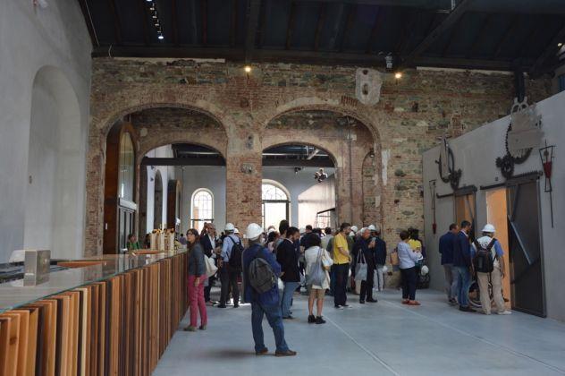OGR Torino 6 settembre 2017. Visita al cantiere. Il bar (c) Artribune