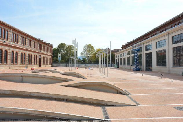 OGR Torino, 6 settembre 2017. Visita al cantiere. La corte interna (c) Artribune