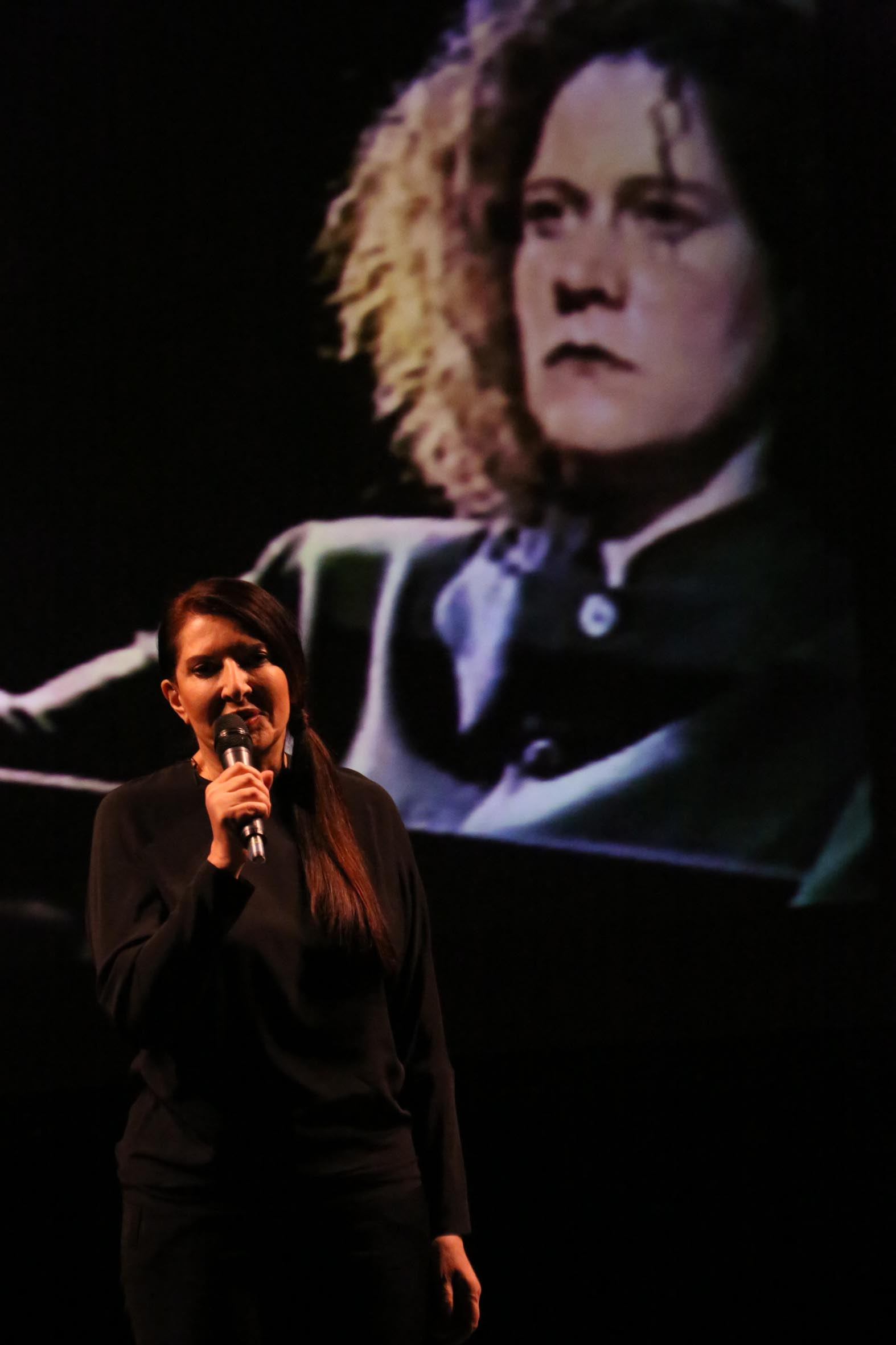 Marina Abramovic ad Alba. Photo Murialdo Muratore