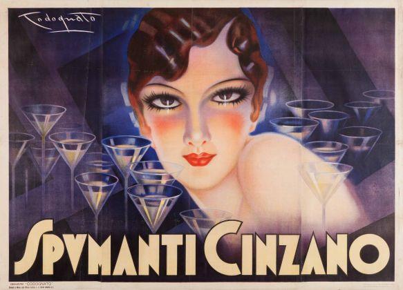Plinio Codognato, Cinzano Spumanti, 1933. Galleria L'Image, Alassio