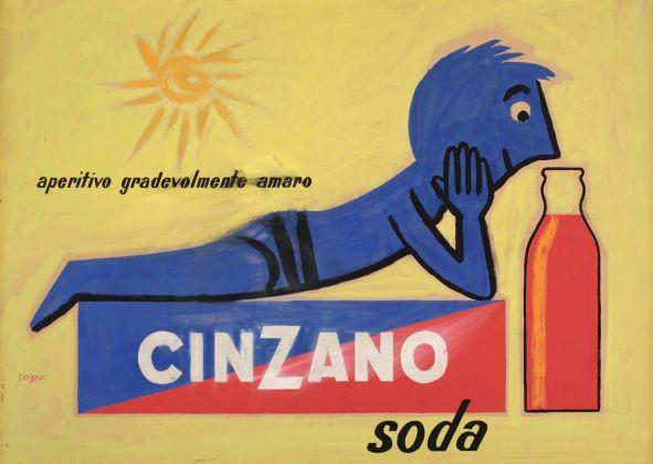 Raymond Savignac, Cinzano Soda. Galleria del Laocoonte