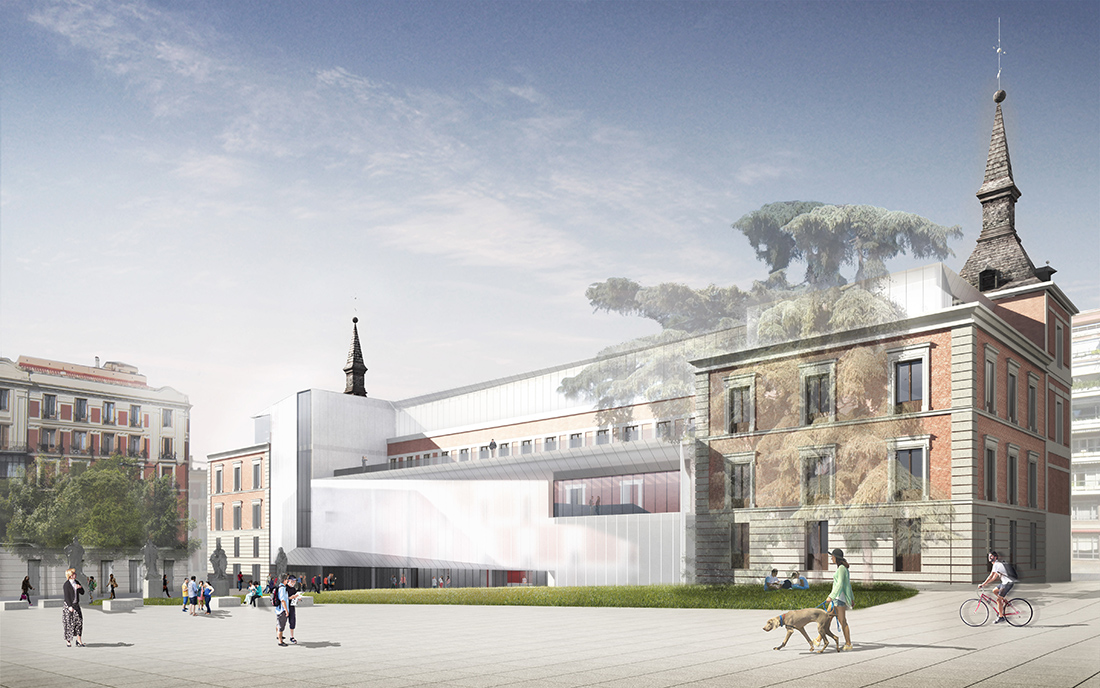 Richard Gluckman, Prado Museum, Madrid (project competition render). Photo © Gluckman Tang