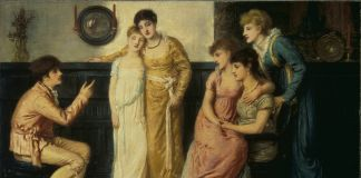 Simeon Salomon, A Youth Relating Tales to Ladies, 1870