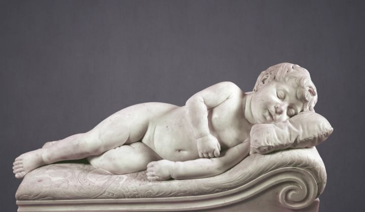 Tito Sarrocchi, Putto dormiente. Collezioni MPS, Siena