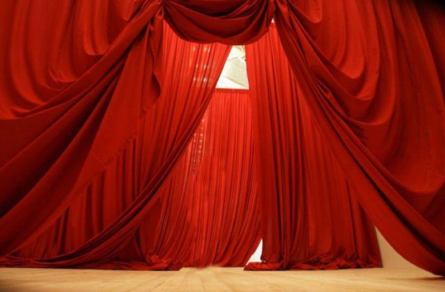 Ulla von Brandenburg, Five Folded Curtains, 2008