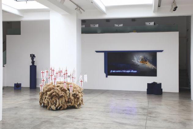 Vettor Pisani. Installation view at Cardi Gallery, Milano 2017. Photo Bruno Bani. Courtesy Fondazione Morra, Napoli e Cardi Gallery, Milano Londra