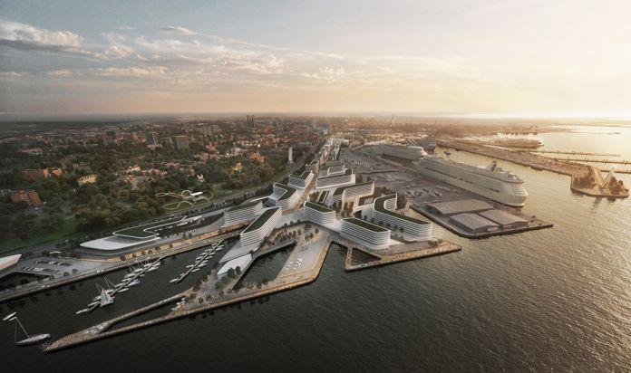 ZHA Port of Tallinn, Masterplan. ©Zaha Hadid Architects (ZHA) – Elaborazioni grafiche by VA-Render