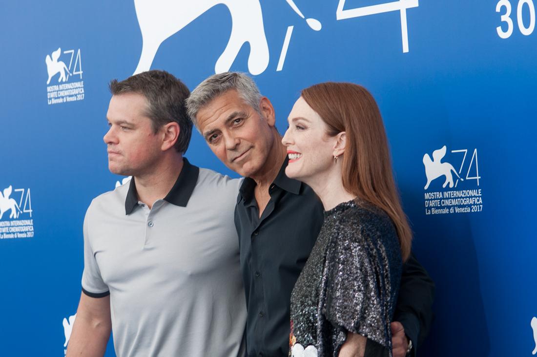 Venezia 74, George Clooney e il cast di Suburbicon ph. Irene Fanizza