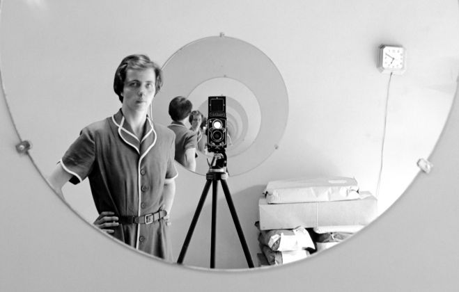 Vivian Maier, Self Portrait, May 5th, 1955. Vivian Maier/Maloof Collection