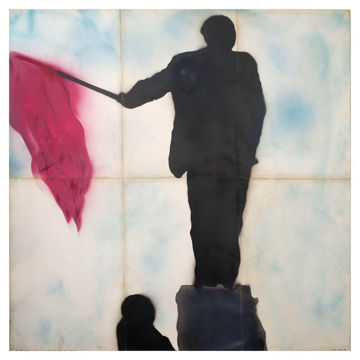 Franco Angeli, Ritratto di Mao con Bandiera Rossa, 1968. Collezione Mara Chiaretti. Ph. ©Giorgio Benni