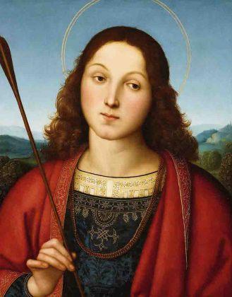 Raffaello Sanzio San Sebastiano 1501 - 1502 circa tempera e olio su tavola Accademia Carrara, Bergamo Courtesy: Fondazione Accademia Carrara, Bergamo