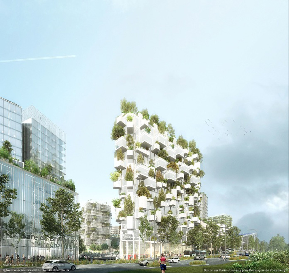 Balcon Sur Paris, Diorama Compagnie De Phalsbourg Architectes – SBA