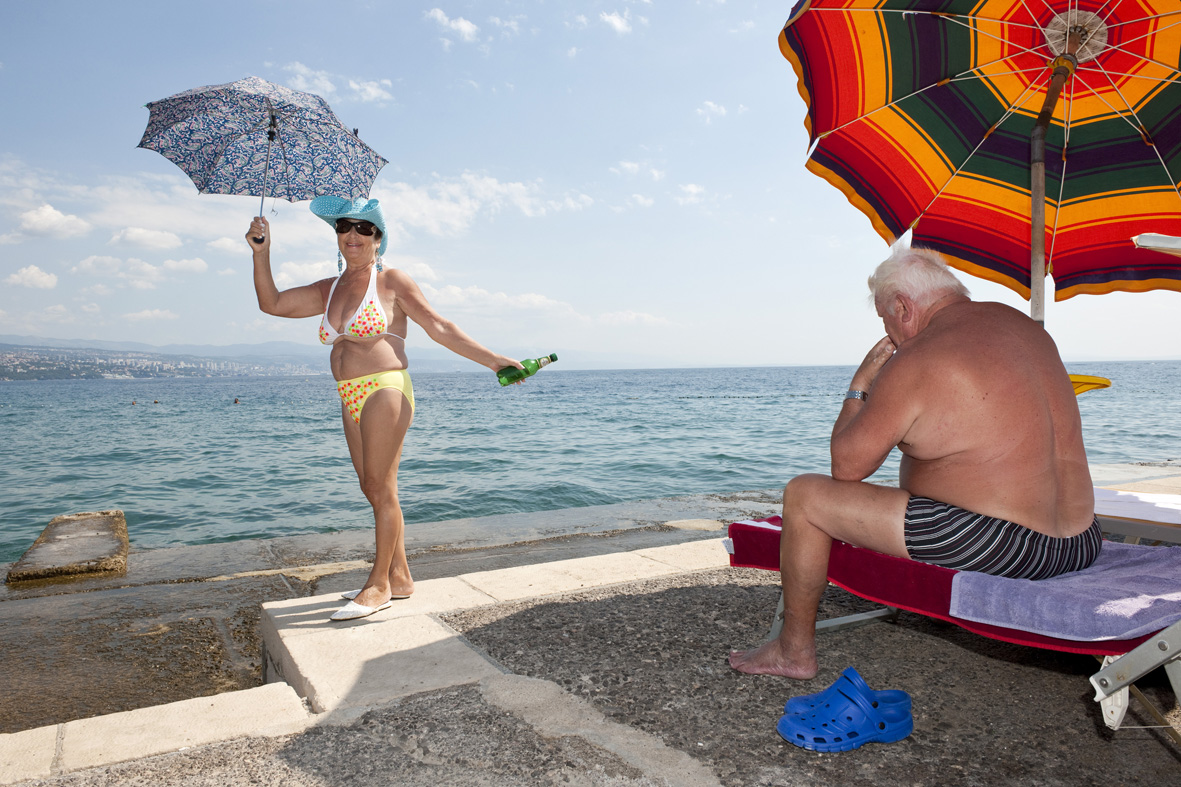 Opatija, Croatia, August 30, 2011 Concrete bathing area along the Adriatic coast. From the series 'Mediterranean. The Continuity of Man' ©Nick Hannes