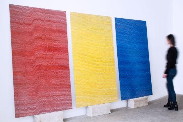 Mathieu Merlet Briand, Tryptich Google Red, Google Yellow, Google Blue. Hommage à Alexandre Rodtchenko, 2015, photo the artist