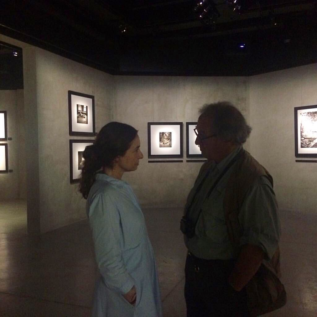 Alessia Glaviano e Larry Fink all'Armani Silos di Milano