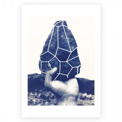 Andreco, Origini, 2017, cyanotype and silkscreen, cotton paper 300gr, 35×50 cm, limited edition of 9