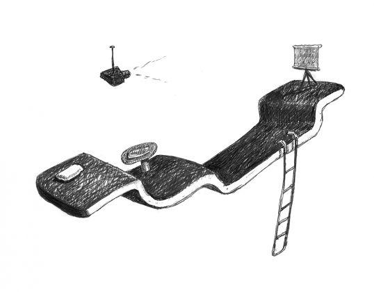 Aristide Antonas, The narrative of the flying door, Flying floor #017, 2015. Courtesy Aristide Antonas