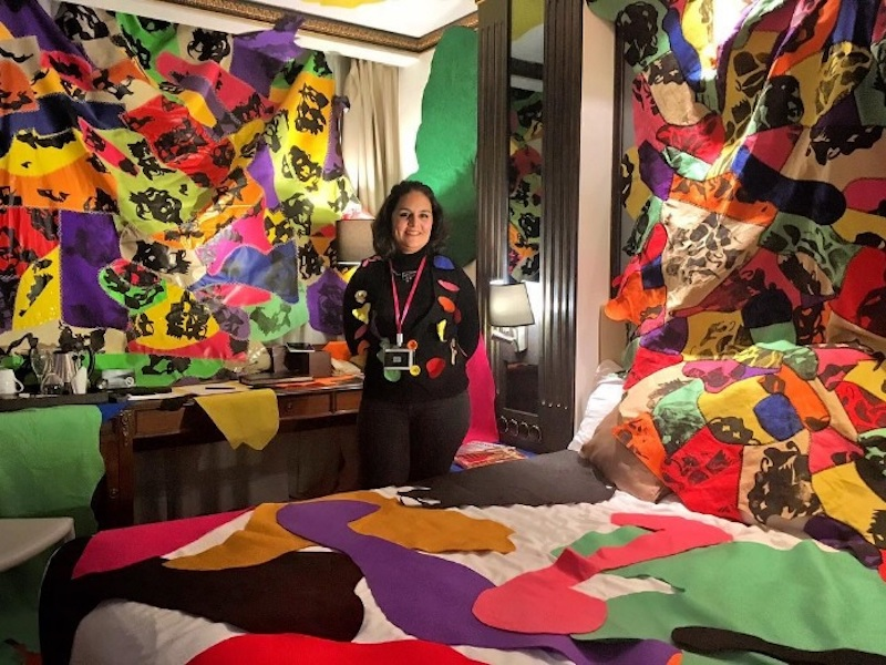 Una delle stanze nell'edizione di Londra di Artrooms