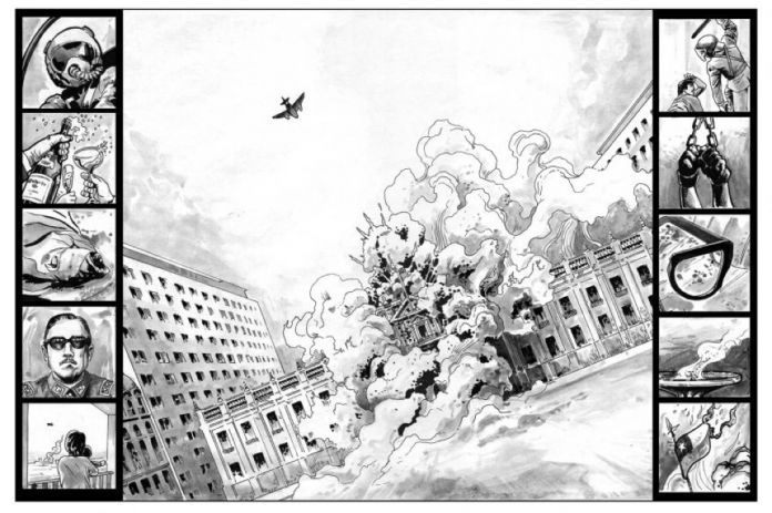 Carlos Reyes & Rodrigo Elgueta, Gli anni di Allende (Edicola Ediciones, 2017). L'attacco al Palazzo della Moneda