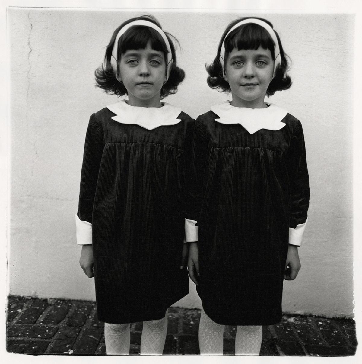 Diane Arbus, Identical twins, Roselle, N.J. 1967. Courtesy The Estate of Diane Arbus