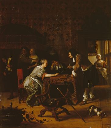 Jan Steen, Tric-Trac Players, 1667 © State Hermitage Museum, St Petersburg