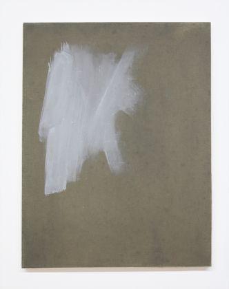 Eugenia Vanni, Ritratto di imprimitura bianca su tela di lino, 2017
